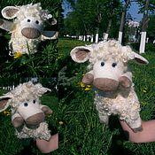 Куклы и игрушки ручной работы. Ярмарка Мастеров - ручная работа Голубоглазая Овечка - перчаточная кукла. Handmade.