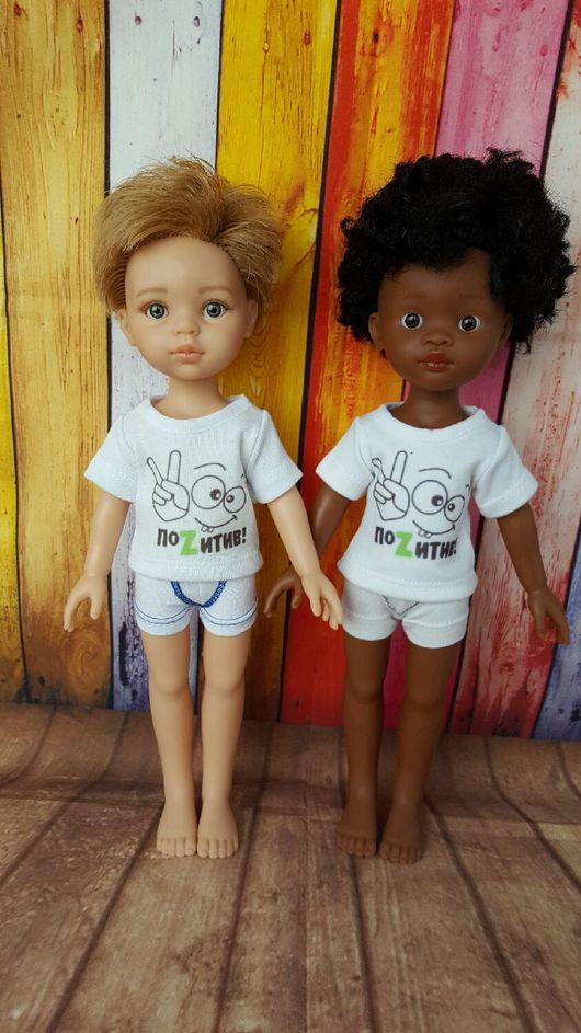 Одежда для кукол ручной работы. Ярмарка Мастеров - ручная работа. Купить Футболки для кукол Паола Рейна (Paola Reina). Handmade.