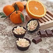 """Пенки ручной работы. Ярмарка Мастеров - ручная работа Десерт (масло)  для ванны """"Апельсин в шоколаде"""". Handmade."""