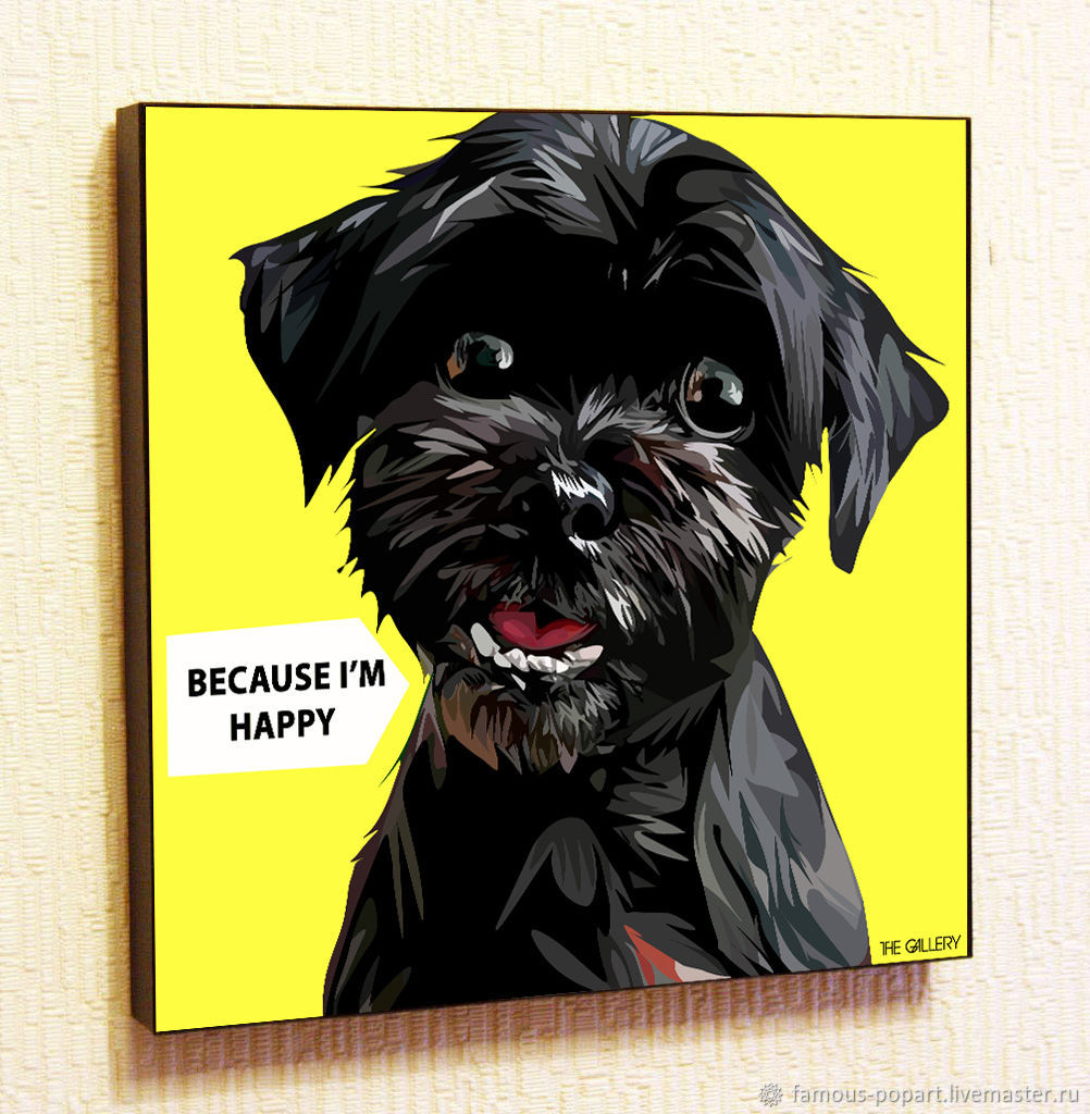 Picture poster Happy Dog in Pop Art style, Pictures, Moscow,  Фото №1