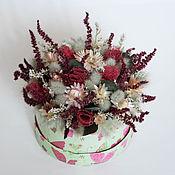 Цветы и флористика ручной работы. Ярмарка Мастеров - ручная работа Коробочка с сухоцветами. Handmade.
