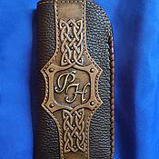 Сумки и аксессуары handmade. Livemaster - original item Leather eyeglass case with initials. Handmade.