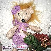 Куклы и игрушки handmade. Livemaster - original item Textile doll Hedgehog Marfa. Handmade.
