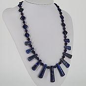 Украшения handmade. Livemaster - original item Necklace with pendants of sodalite and lapis lazuli stones. Handmade.