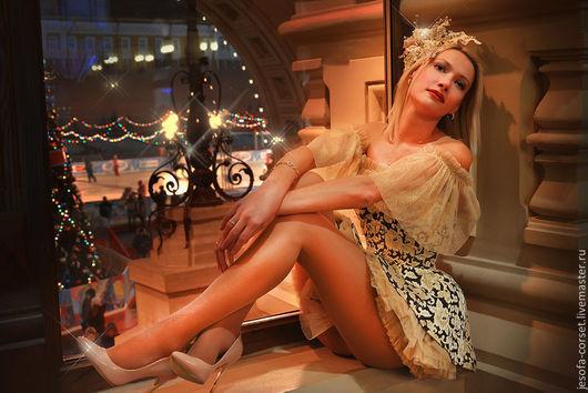 Корсеты ручной работы. Ярмарка Мастеров - ручная работа. Купить Корсетное платье Маленькая Принцесса. Handmade. Золотой, корсетное платье
