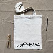 Сумки и аксессуары handmade. Livemaster - original item Shoppers: eco bag with an author`s print. Handmade.