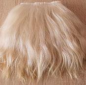 Материалы для творчества handmade. Livemaster - original item Mohair tress straight hair (white, unpainted). Handmade.
