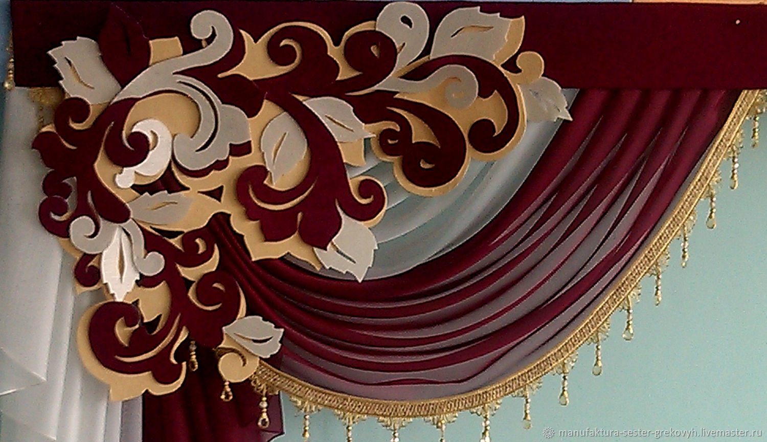 Lambrequin with a decorative element, Curtains1, St. Petersburg,  Фото №1