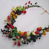 Украшения handmade. Livemaster - original item Necklace Berry blast polymer clay(work-order). Handmade.