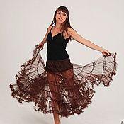 Одежда ручной работы. Ярмарка Мастеров - ручная работа Нижняя юбка солнце (подъюбник) коричневый. Handmade.