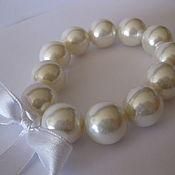 handmade. Livemaster - original item Pearl bracelets made of large White Majorcan pearls.. Handmade.