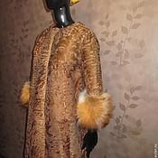 Купить Шубка-пальто из каракульчи и кашемира 2 - черный, каракуль, каракуль свакара, каракульча