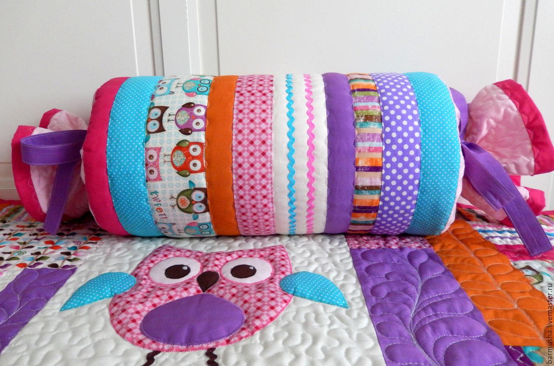 Подушка валик как с шитьем