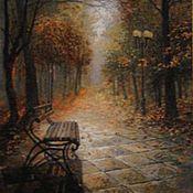 """Картины и панно ручной работы. Ярмарка Мастеров - ручная работа Вышитая картина """"Меланхолия"""". Handmade."""