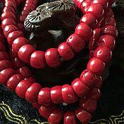 Бусины ручной работы. Ярмарка Мастеров - ручная работа Бусина 10 мм Тыква  (26), коралл. Handmade.
