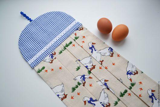 """Кухня ручной работы. Ярмарка Мастеров - ручная работа. Купить Льняное полотенце для кухни, полотенце для рук """"Чешский гусь"""". Handmade."""