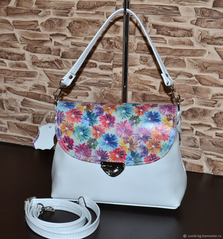 Model 1011 leather Bag women's Compact leather handbag, Classic Bag, Bogorodsk,  Фото №1