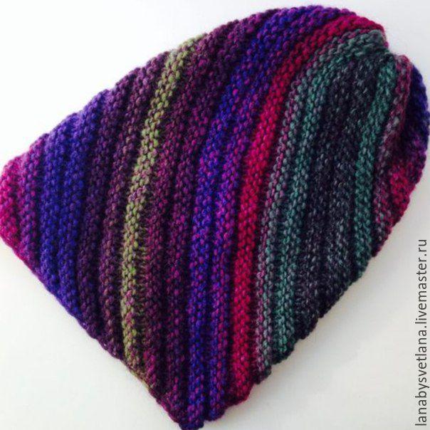схема вязания шапки бини по диагонали купить в интернет магазине