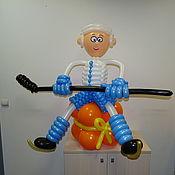 Спортивные сувениры ручной работы. Ярмарка Мастеров - ручная работа Спортивные сувениры: Хоккеисты из шаров. Handmade.