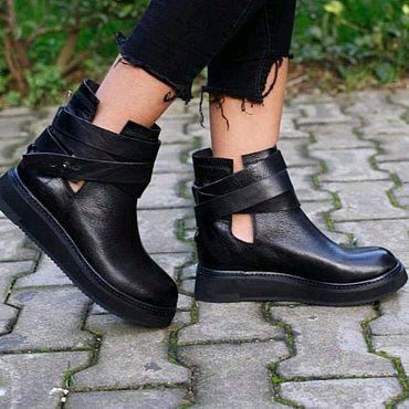 Обувь ручной работы. Ярмарка Мастеров - ручная работа Ботинки 338. Handmade.
