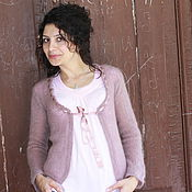 "Одежда handmade. Livemaster - original item Women`s  knitted jacket ""Romantic"". Handmade."