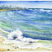 """Картины и панно ручной работы. Ярмарка Мастеров - ручная работа Акварель """"Волны Индийского океана"""". Handmade."""