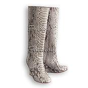 Обувь ручной работы handmade. Livemaster - original item Boots Python JUTURNE. Handmade.
