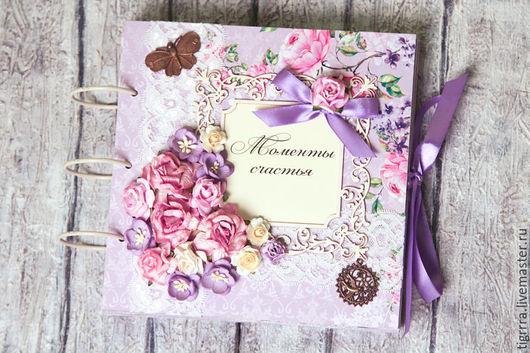 """Фотоальбомы ручной работы. Ярмарка Мастеров - ручная работа. Купить Фотоальбом """"Violet"""" (подарок девушке, свадебный). Handmade. Фотоальбом"""