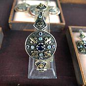 handmade. Livemaster - original item Anahit.  Silver bracelet with spinel and Topaz. Handmade.