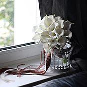 """Свадебный салон ручной работы. Ярмарка Мастеров - ручная работа Букет калл """"Белый шоколад"""". Handmade."""