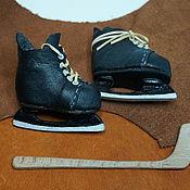 Хоккейные коньки для куклы