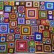 """Текстиль, ковры ручной работы. Ярмарка Мастеров - ручная работа. Купить Яркий разноцветный вязаный плед """"Краски жизни"""". Handmade."""