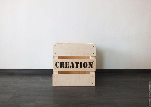 """Корзины, коробы ручной работы. Ярмарка Мастеров - ручная работа. Купить Ящик """"creation"""". Handmade. Бежевый, ящик, ящик для игрушек"""