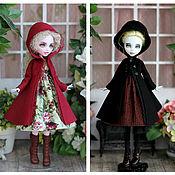 Одежда для кукол ручной работы. Ярмарка Мастеров - ручная работа Пальто с капюшоном для Monster High / EverAfterHigh. Handmade.