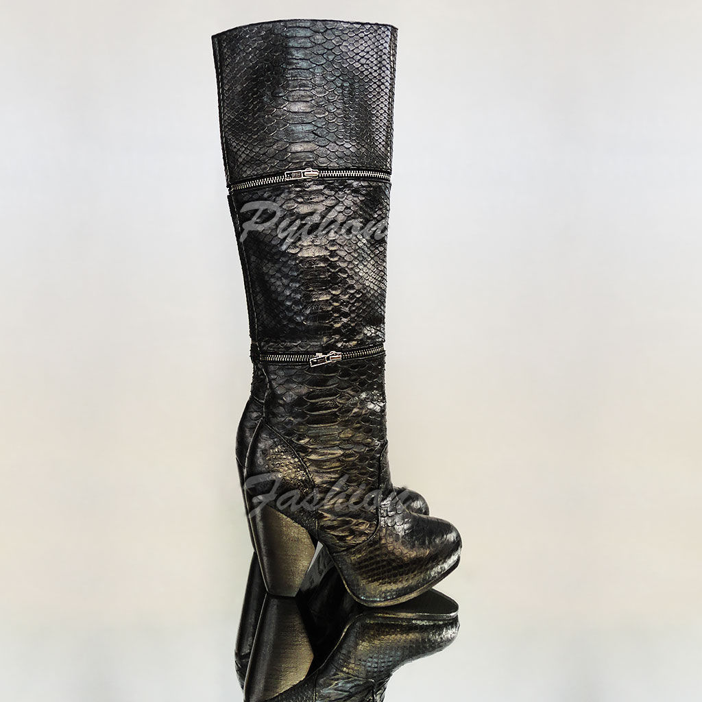 boots Python. Designer boots transformers from Python. Fashionable women's boots from the Python on the heel. Economie boots handmade to order. Women's high platform boots. Boots Python.