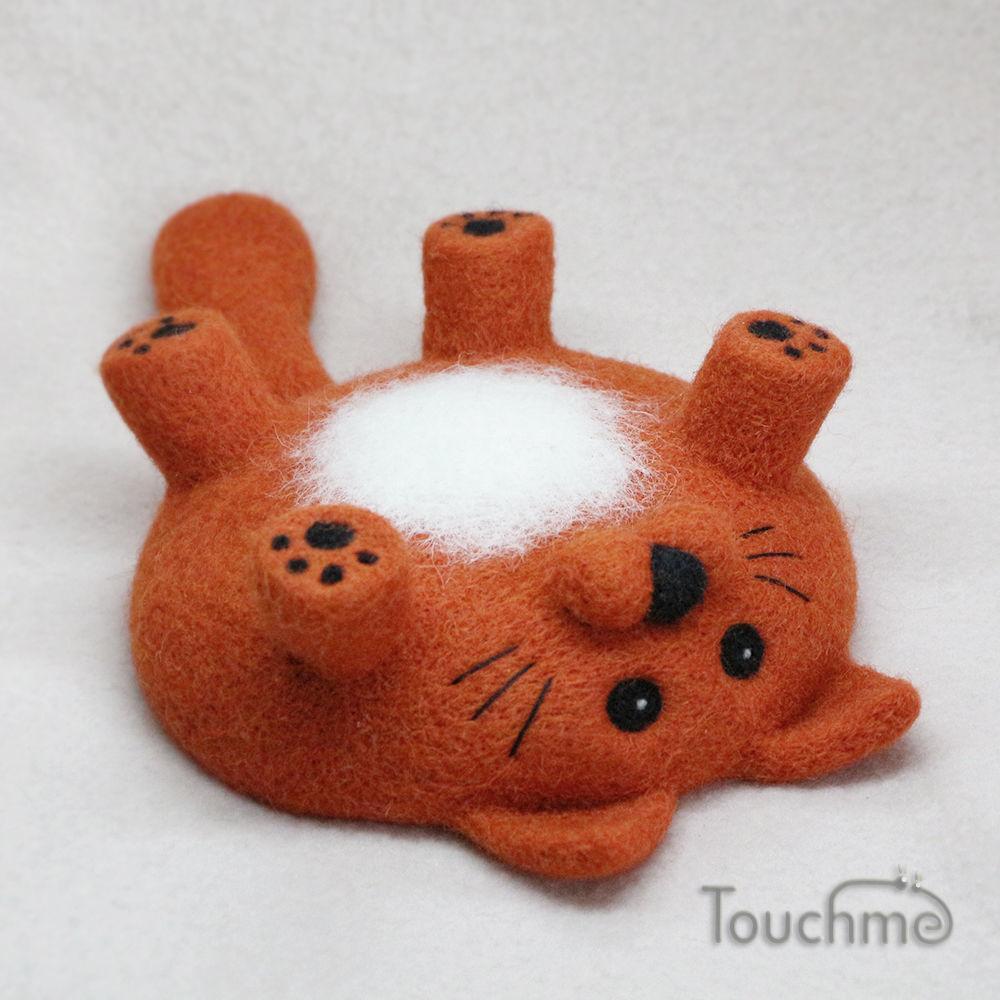 """Кот """"Почешите пузико"""" рыжий, Мягкие игрушки, Электросталь,  Фото №1"""