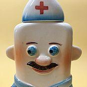 handmade. Livemaster - original item Nurse porcelain flask. Hippocratic Oath. Handmade.