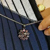 Украшения handmade. Livemaster - original item A small pendant made of silver with spinel. Handmade.