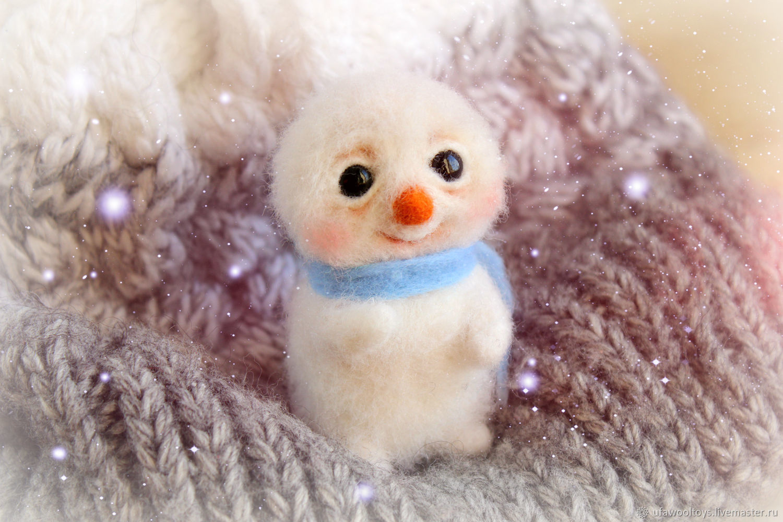Снеговик, Войлочная игрушка, Уфа,  Фото №1