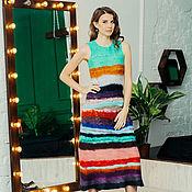 Одежда handmade. Livemaster - original item Felted dress Rainbow. Handmade.
