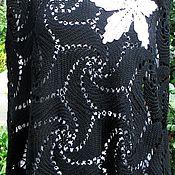 Одежда ручной работы. Ярмарка Мастеров - ручная работа Пончо с белой лилией. Handmade.