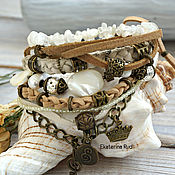 Украшения handmade. Livemaster - original item Boho-chic bracelet with moonstone and