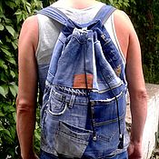 Сумки и аксессуары handmade. Livemaster - original item Backpack denim MAG. Handmade.