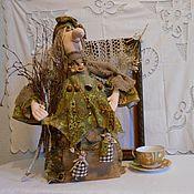 Куклы и игрушки ручной работы. Ярмарка Мастеров - ручная работа Баба Яга  хранительница очага. Кукла на чайник.. Handmade.
