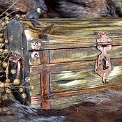 """Для дома и интерьера ручной работы. Ярмарка Мастеров - ручная работа Сундук-шкатулка """"Сердце леса"""". Handmade."""