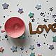 Кружки и чашки ручной работы. Ярмарка Мастеров - ручная работа. Купить Чашка для Алисы (розовая). Handmade. Розовый, чашка в подарок