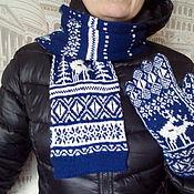 Аксессуары handmade. Livemaster - original item gloves and a scarf. Handmade.