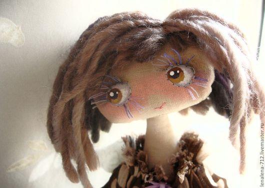 Ароматизированные куклы ручной работы. Ярмарка Мастеров - ручная работа. Купить Таша ... цвет корицы и лаванды .... Handmade. Коричневый, батист