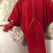 Одежда ручной работы. Ярмарка Мастеров - ручная работа Пальто Леди в красном. Handmade.