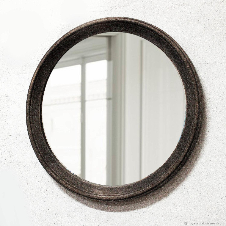Круглое зеркало Grey, зеркало в ванную, зеркало лофт,настенное зеркало, Зеркала, Санкт-Петербург, Фото №1